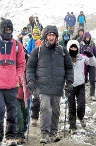 Michael Donovan on the summit of Mt Kilimanjaro
