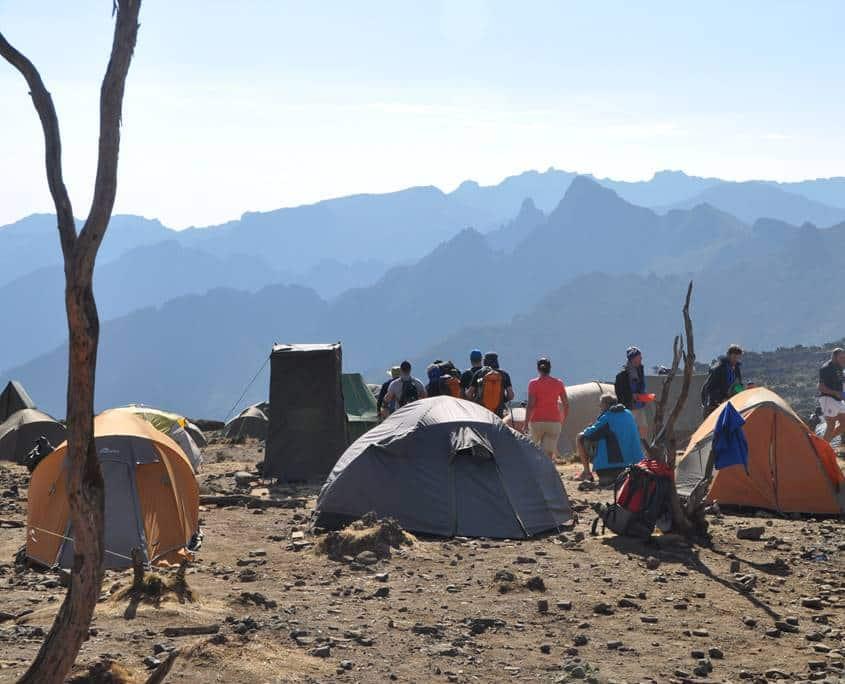 Shira Camp on Mt Kilimanajro