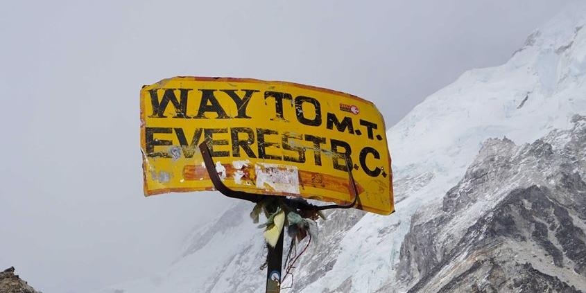 The Everest Base Camp sign