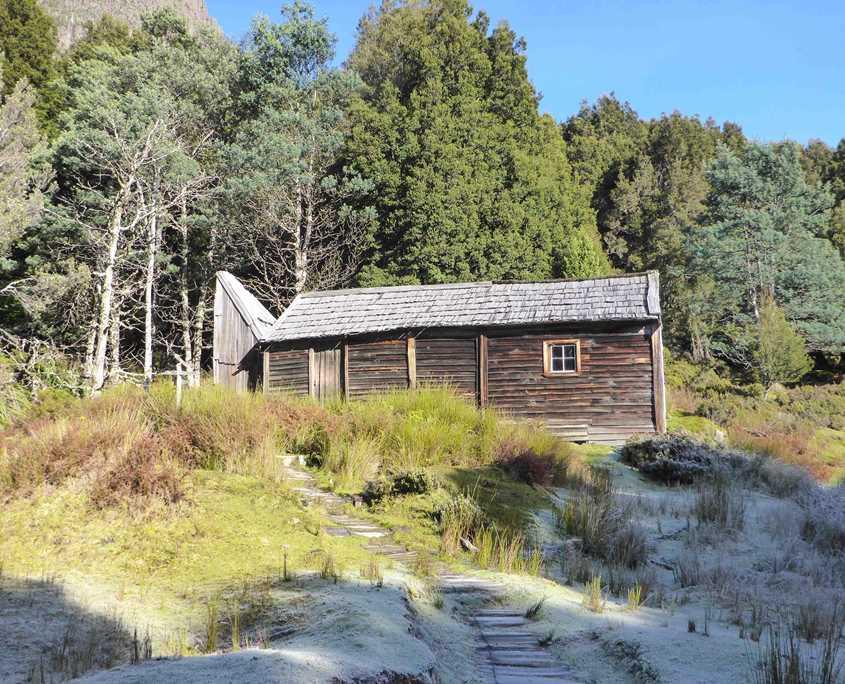 Du Cane Hut on the Overland Track in Tasmania