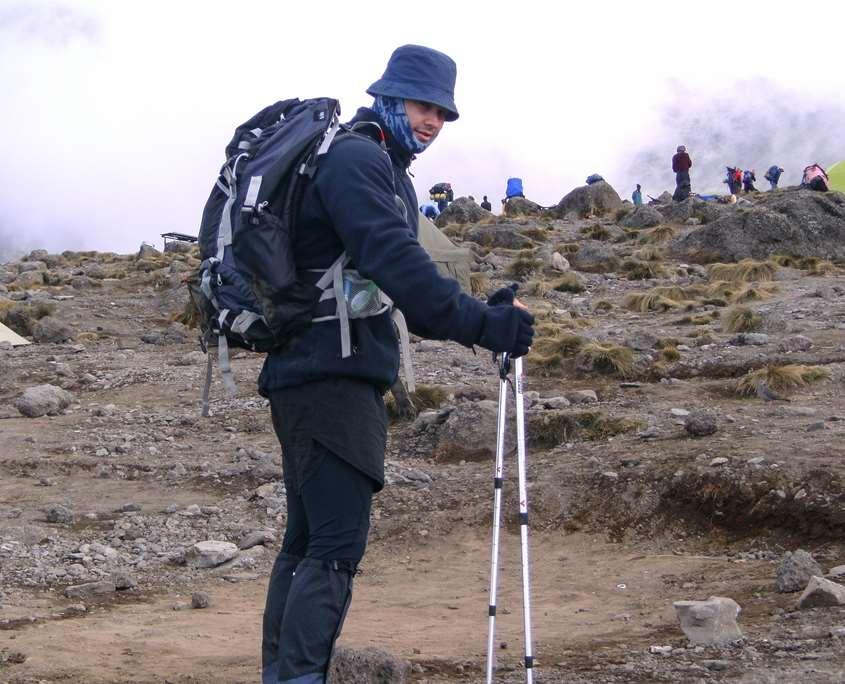 The landscape changes when climbing Mount Kilimanjaro