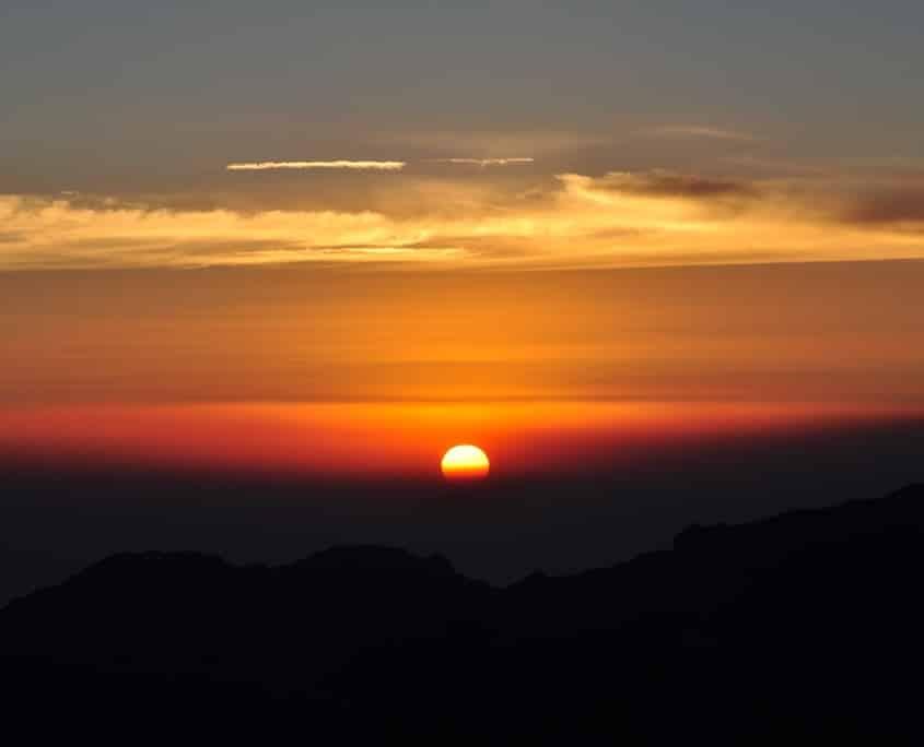 A beautiful sunset on Kilimanjaro