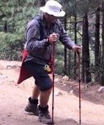 Paul Rollo enjoying the trekking on the Peak Potential Adventures Everest Base Camp trek.
