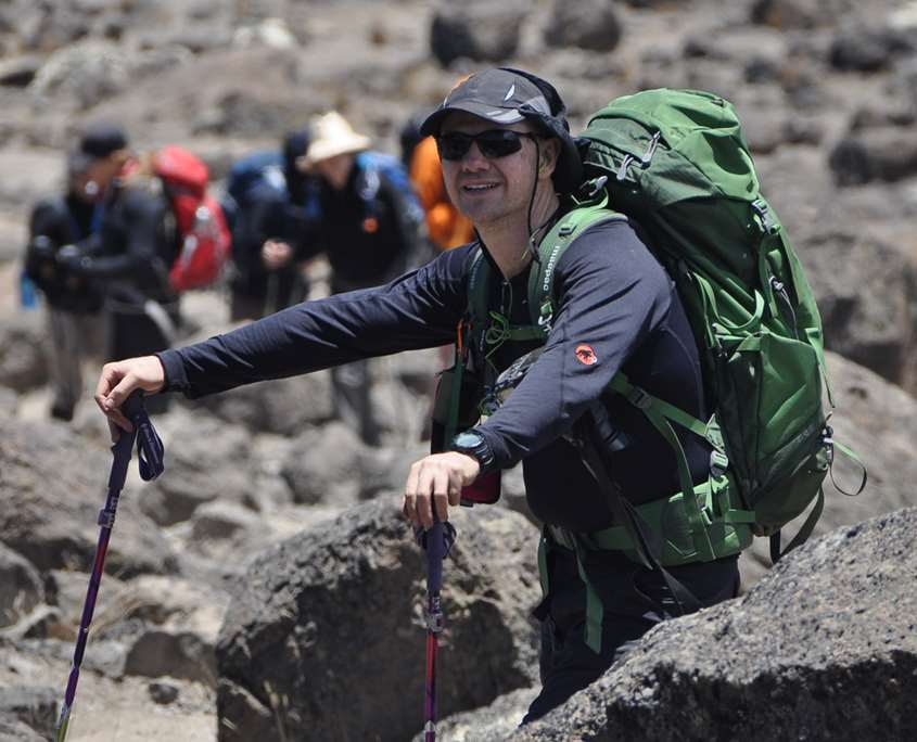 Darren Wise leading a team to the summit on Mt Kilimanjaro