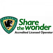 Tasmanian Parks and Wildlife Service Accredited Licensed Operator logo