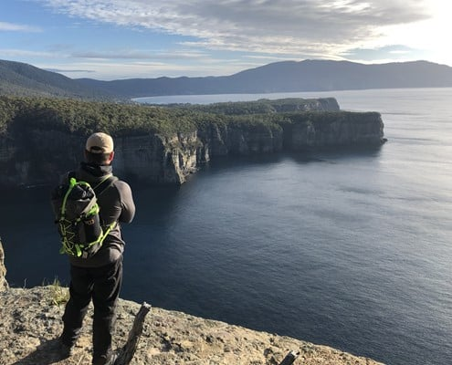 Taking in the views on the Three Capes Track in Tasmania