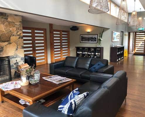 Stewarts Bay Lodge at Port Arthur lounge room