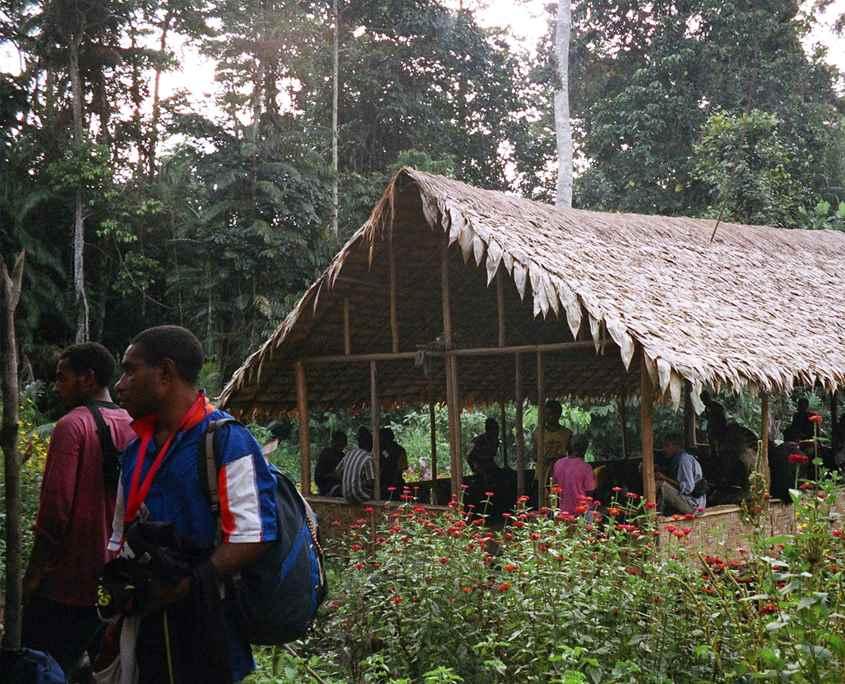 A village hut on the Kokoda Track
