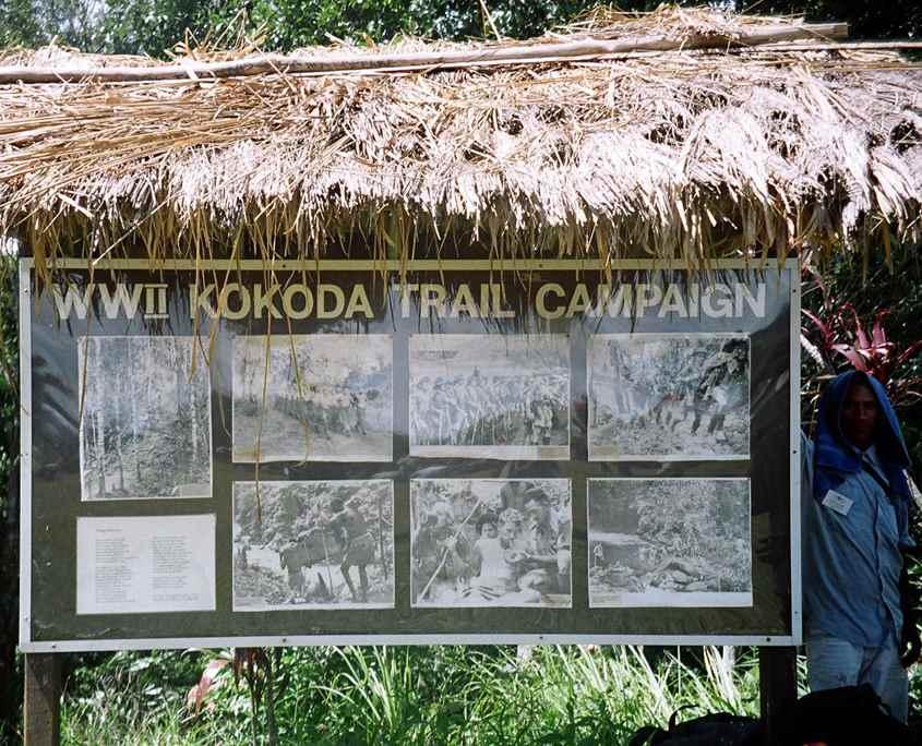 The WW11 Kokoda Track trail campaign photo memorial