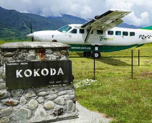 Trip Air charter service that fly's to Kokoda
