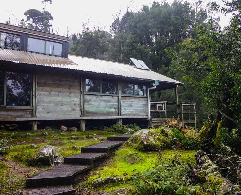 Windermere Hut on The Overland Track in Tasmania