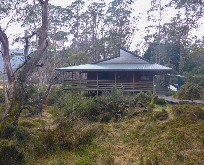 New Pelion Hut situatated on Pelion Plains on The Overland Track
